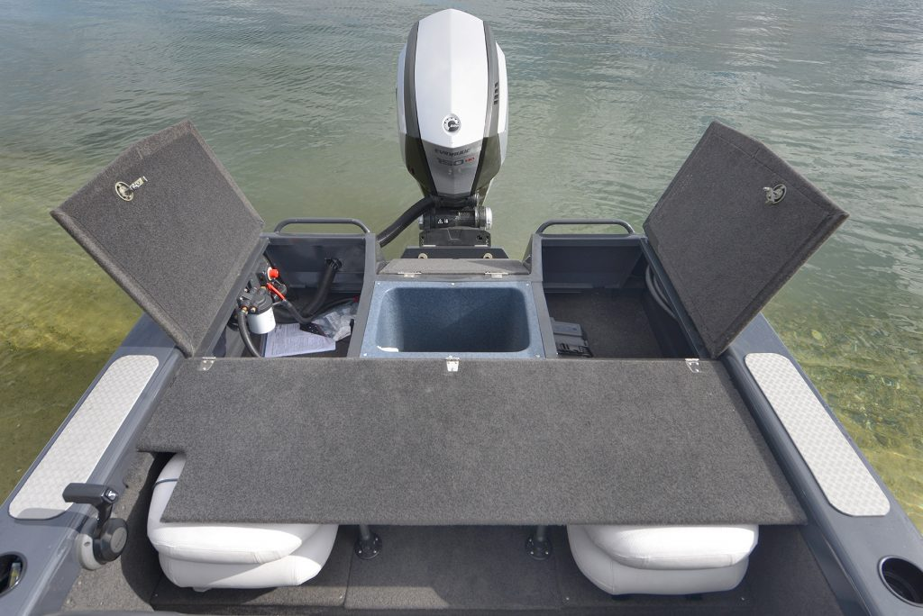 Quintrex stealth hornet 530 is a smooth ride for Self deploying trolling motor